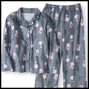 Jammies Boy's Holiday Polar Bear Sleep 2 Piece Set